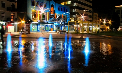 Photo of Garden Place Hamilton at night