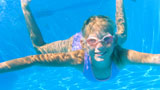 Photo of a swimming girl