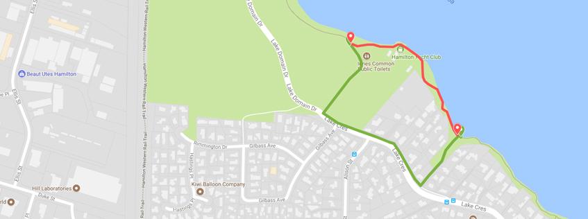Hamilton Lake Yacht Club path closure