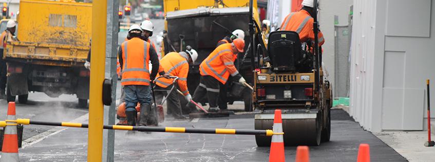 Road resurfacing in Hamilton