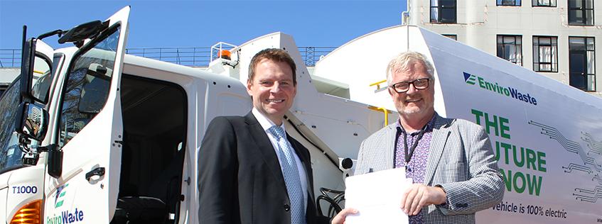 EnvrioWaste CEO Chris Aughton (left) and Councillor Mark Bunting (left).