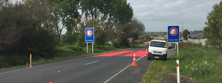 Gordonton Rd 60km/h signage