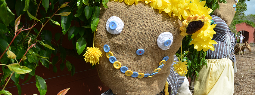 One of the entries to the 2018 Gathering of Scarecrows at Hamilton Gardens