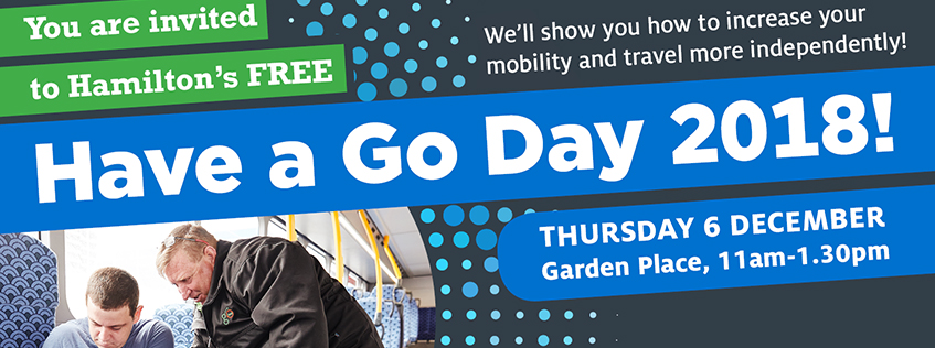 You're invited to Have A Go Day 2018, Thursday 6 December 11am-1.30pm in Garden Place