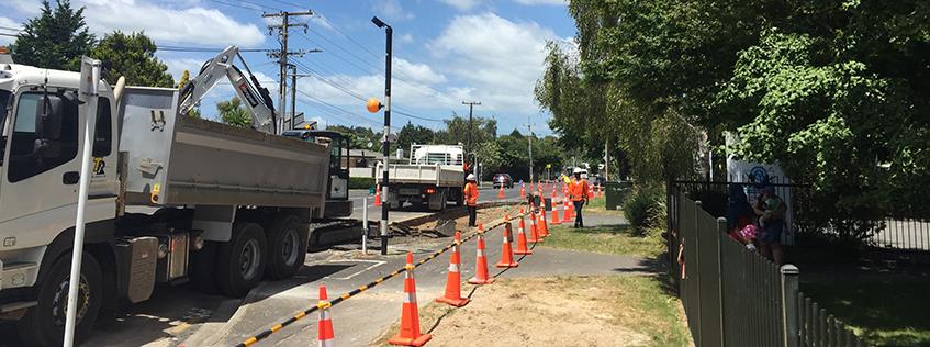 Knighton Rd safety work
