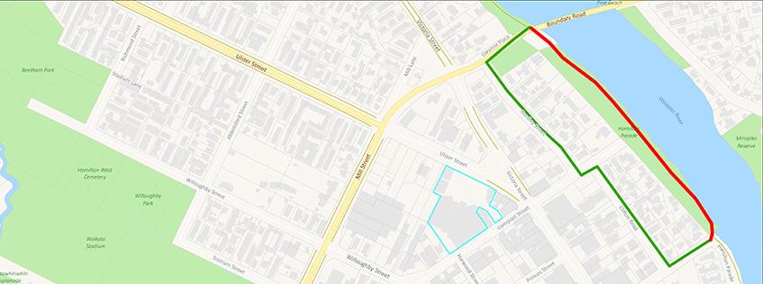 Hamilton Pde closure | Detour via Hardley St and Clifton Rd