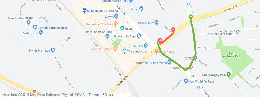 Wairere Dr Resurfacing | Detour via Te Rapa Rd and Pukete Rd
