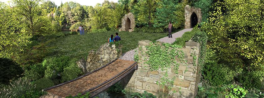 Concept designs of the new Picturesque Garden at the Hamilton Gardens