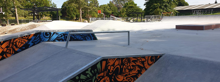 The new and improved Melville Skatepark