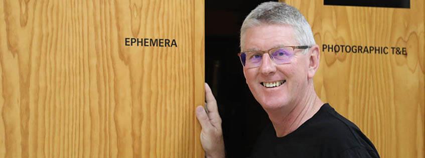 Volunteer tour guide Peter Gillies