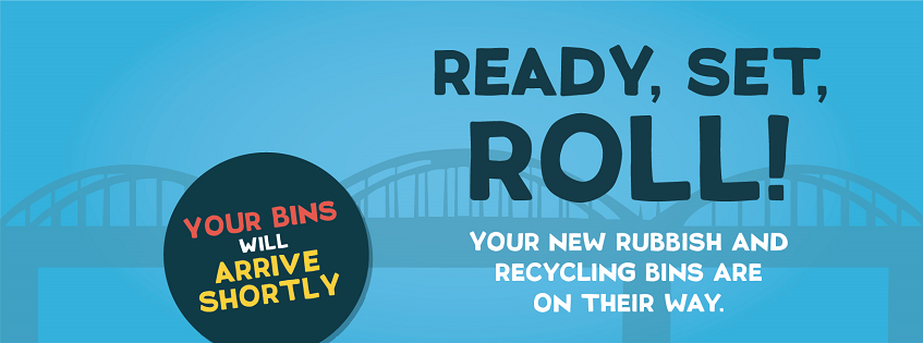Your new rubbish and recycling bins are on their way!