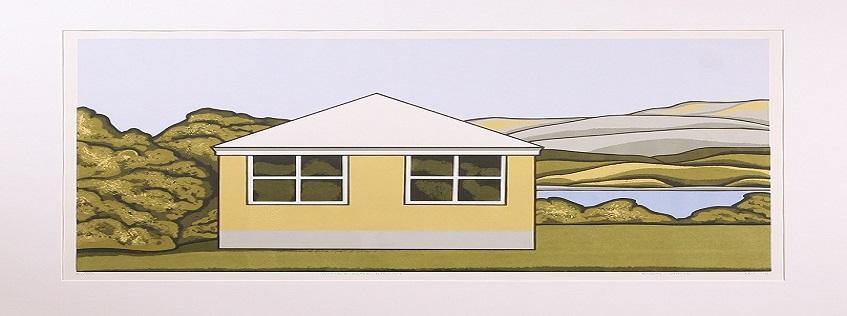 Image: Robin Adair White, White's Place, Raglan - Edition 16/30, 1971. Collection of Waikato Museum Te Whare Taonga o Waikato