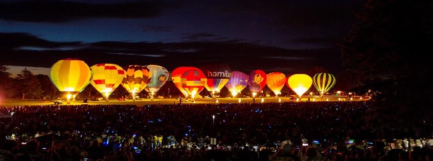 Balloons Over Waikato Zuru Night Glow 2021