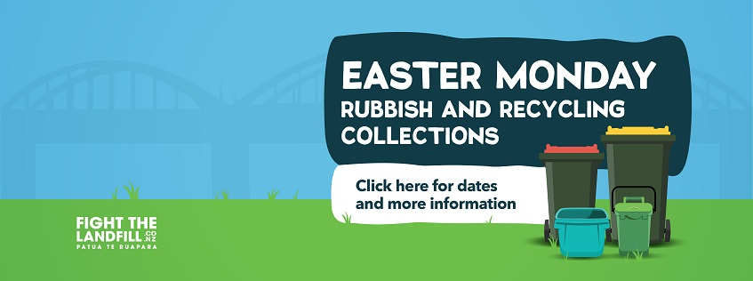 Easter Monday Rubbish and Recycling Collections. Click here for dates and more information.