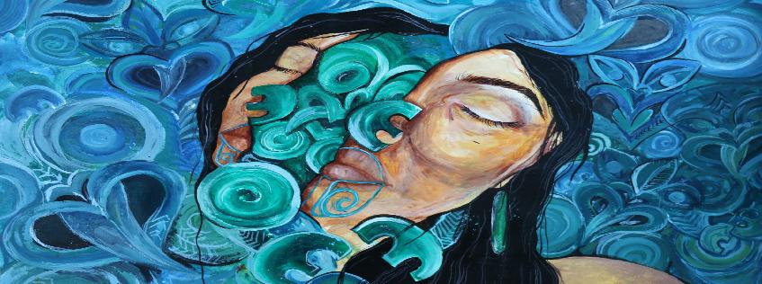 Painting by Kaia Waite, Waihi College.