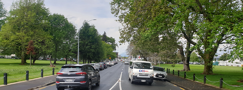 Rostrevor Street looking towards the city centre