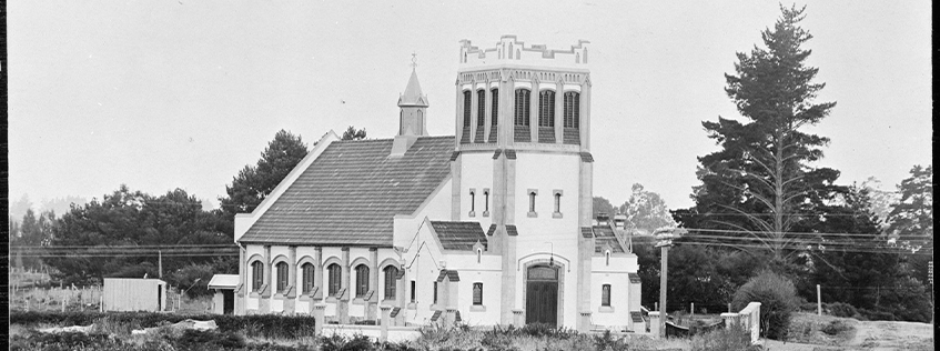 Image: St Andrew's Church, pictured here in 1915, received $20,000 towards earthquake strengthening through Hamilton City Council's Heritage Fund. Courtesy of Hamilton City Libraries, HCL_02246.