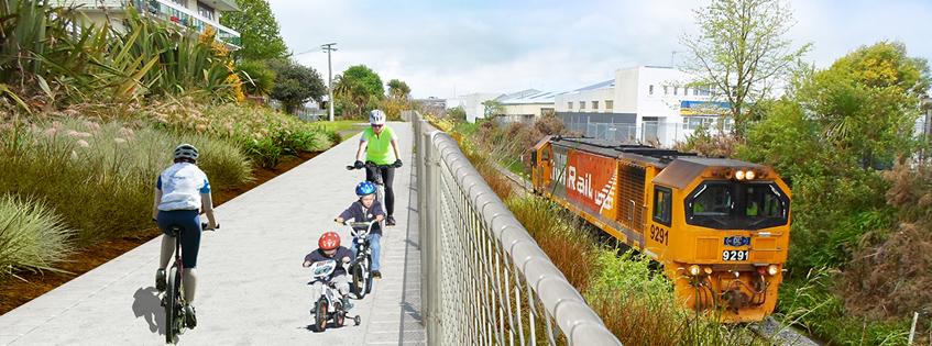 Final biking path design on display